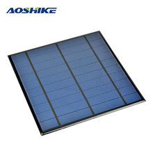Aoshike 5V 4.5W Epoxy Solar Panel Photovoltaic Panel Polycrystalline Solar Cell Mini Sun Power Energy Module DIY Solar Sistem