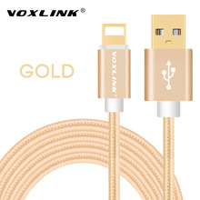 VOXLINK For Lightning Cable Fast Charger Adapter Original USB Cable For iphone 7 6 s plus 5 5s ipad mini Mobile Phone Cables