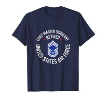 brand men shirt Chief Master Sergeant Retired Air Force Retirement Shirt(China)