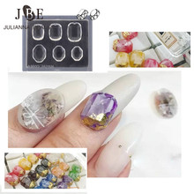 1Pc 3D Acrylic Nail Art Template Ball Mold Round Oval Square Shape Resin Nail Art Mould For DIY UV Gel Gemstone Nail Decoration