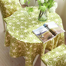 abbiemao pastoral style small fresh geometric printing tea table cloth three colors party table cover(China)