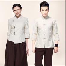 High Qualit Summer Beauty salon uniforms Man&Woman Thai SPA Health work clothes