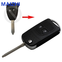 maizhi 2 Button Car-styling Remote Key Blank& Key Shell /Car Key Case For Chrysler For Jeep Compass For Dodge Wrangler Patriot(China)
