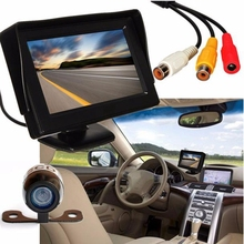 Automotive Accessories High Quality 4.3'' LCD Car Rear View Monitor Night Vision Reverse Backup Camera Waterproof  @323