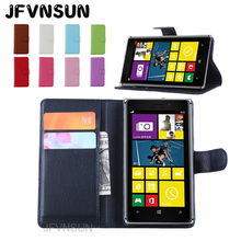 JFVNSUN Case for Microsoft Nokia Lumia 925 NEW Card Slot Wallet Magnetic Leather Flip Cover for Nokia Lumia 925 Stand Phone Bag