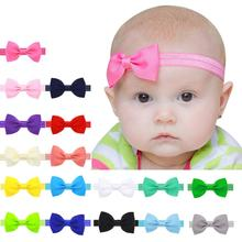 Quality Guarantee 100% brand new and high quality Kids Girls Mini Bowknot Hairband Elastic Headband 2017 vicky(China)