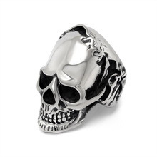 Classic Skull Ring domineering personality offbeat skull ring Dongguan jewelry manufacturers SA864 316L stainless steel(China)