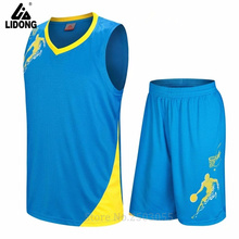 good quality top sale kids basketball jersey training clothes breathable sleeveless throwback uniform can custom print team name
