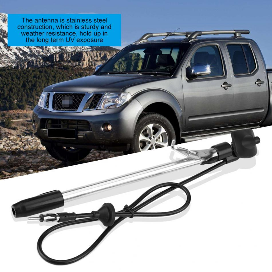 Qiilu Universal Car Auto Roof Mast Stereo Radio FM AM Amplified Booster Antenna 9