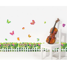 Grass Flowers Skirting Line Waistline Wall Decal Paper Home Sticker Art Picture Murals kids Nursery Baby Room Decoration