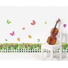 Grass Flowers Skirting Line Waistline Wall Decal Paper Home Sticker Art Picture Murals kids Nursery Baby Room Decoration(China)