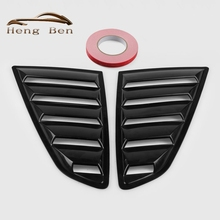 HB 2Pcs/set Fit 15-17 Ford Mustang GT Vent Side Window Louver Covers Mach Style(China)