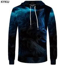 Buy KYKU Brand Wolf Clothes Women Oversized Hoodie Hooded Sweatshirt Hip Hop Hoodies 3d Clothing Oversized Casual Wear 2018 Winter for $14.86 in AliExpress store