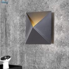 Nordic Iron Art Tiles Shape Wall Lights for Living Room Bedroom Kitchen Restaurant Hall Auxiliary Illumination Loft Decor Lamp(China)