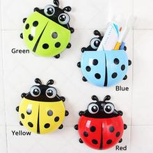 Cartoon Cute Ladybug Sucker Toothbrush Holder suction Hooks / Household Items / toothbrush rack / bathroom sets