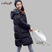 Down Jacket Women 2016 Korean Long Sleeve Ladies Down Jackets Larger Medium-long Down Women's Winter Jacket With A Hood E0646