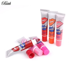 Bittb Wholesale 60Pcs Set Lip Gloss Tattoo Lipstick Kit Long Lasting Liquid Lip Tint Peel Off Red Lips Lipgloss Cosmetic Make up(China)