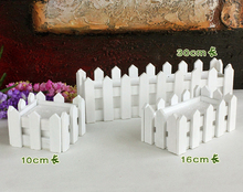 10cm 16cm 30cm wooden fence vase with Foam Artificial flower vase home decoration accessories Receiver Flower Set
