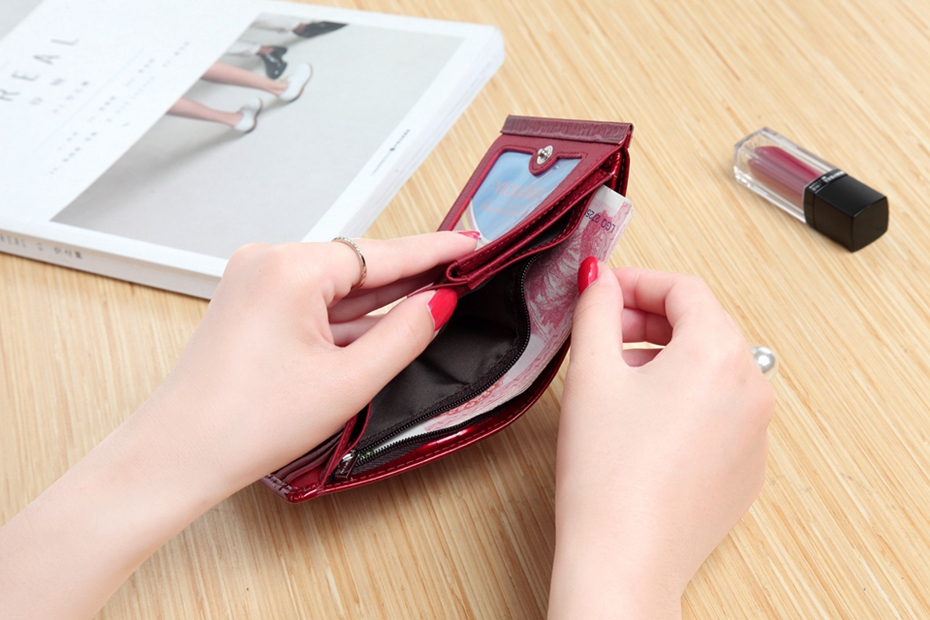 VICKAWEB Mini Wallet Women Genuine Leather Wallets Fashion Alligator Hasp Short Wallet Female Small Woman Wallets And Purses-IMG_6475