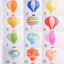 "12 Pcs/Set 12"" Rainbow Hot Air Balloon Paper Lantern Birthday Party Wedding Decor(China)"