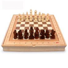 34.5*34.5*4.7cm  International Chess Puzzle Games Grade Wood Wooden Three-Dimensional Chess Queen Beautiful Gift  To Partner