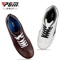 waterproof full-grain leather golf shoes men woman sports sneakers anti-skid spike hard toe protection classic white black(China)