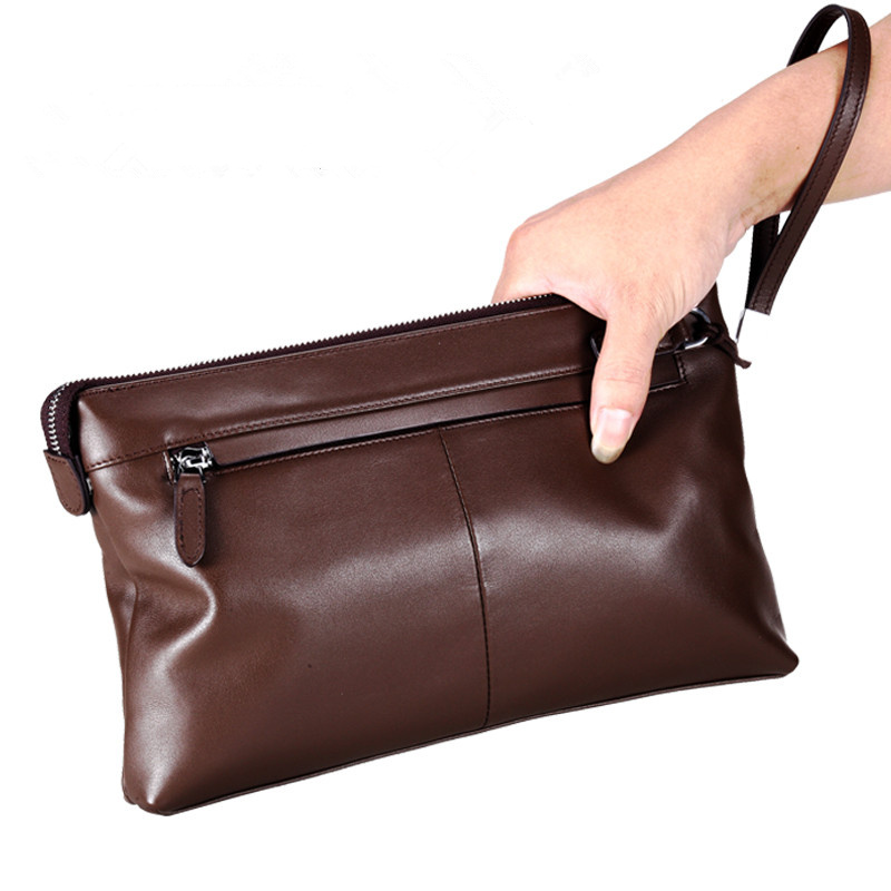 Designer Clutch Wallet Soft Cowhide Men Wallets Famous Men Genuine Leather Wallets Brand Zipper Men Clutch Bags Carteira Masculi<br><br>Aliexpress