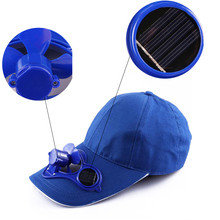 Fashion Cool Fan Cap Summer 1 Pcs Solar Energy Hot Sun Power No batteries Hat(China)