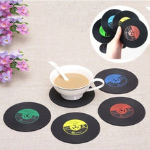 Home Table Cup Mat Creative Decor Coffee Drink Placemat Spinning Retro Vinyl CD Record Drinks Coasters(China)