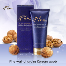 Korean Natural organic PLU perfume floral rose moisturizing Exfoliating BODY scrub walnut exfoliat scrubs sebum management 180g(China)