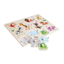 3D Puzzle Baby Wooden Wooden Animal Jigsaw Playing Games Board Jigsaw Kids Toys for Children Funny Educational Birthday Gifts(China)
