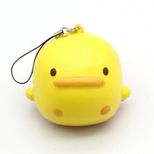 Squishy Toys Mobile Phone Strap PU Cute Little Duck Bread Slow Rising Soft Press Doll Squeeze Kawaii Gift Random Color