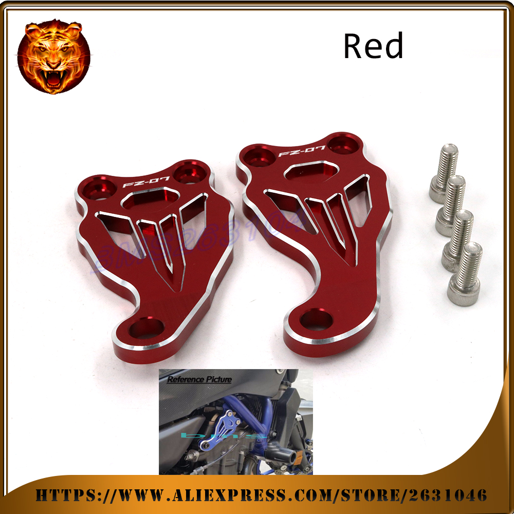 For Yamaha FZ07 FZ-07 MT-07 FZ 07 2014 2015 2016 Motorcycle Accessories Fixed Frame &amp; Engine Mounting Bracket Slider Cover CNC<br><br>Aliexpress