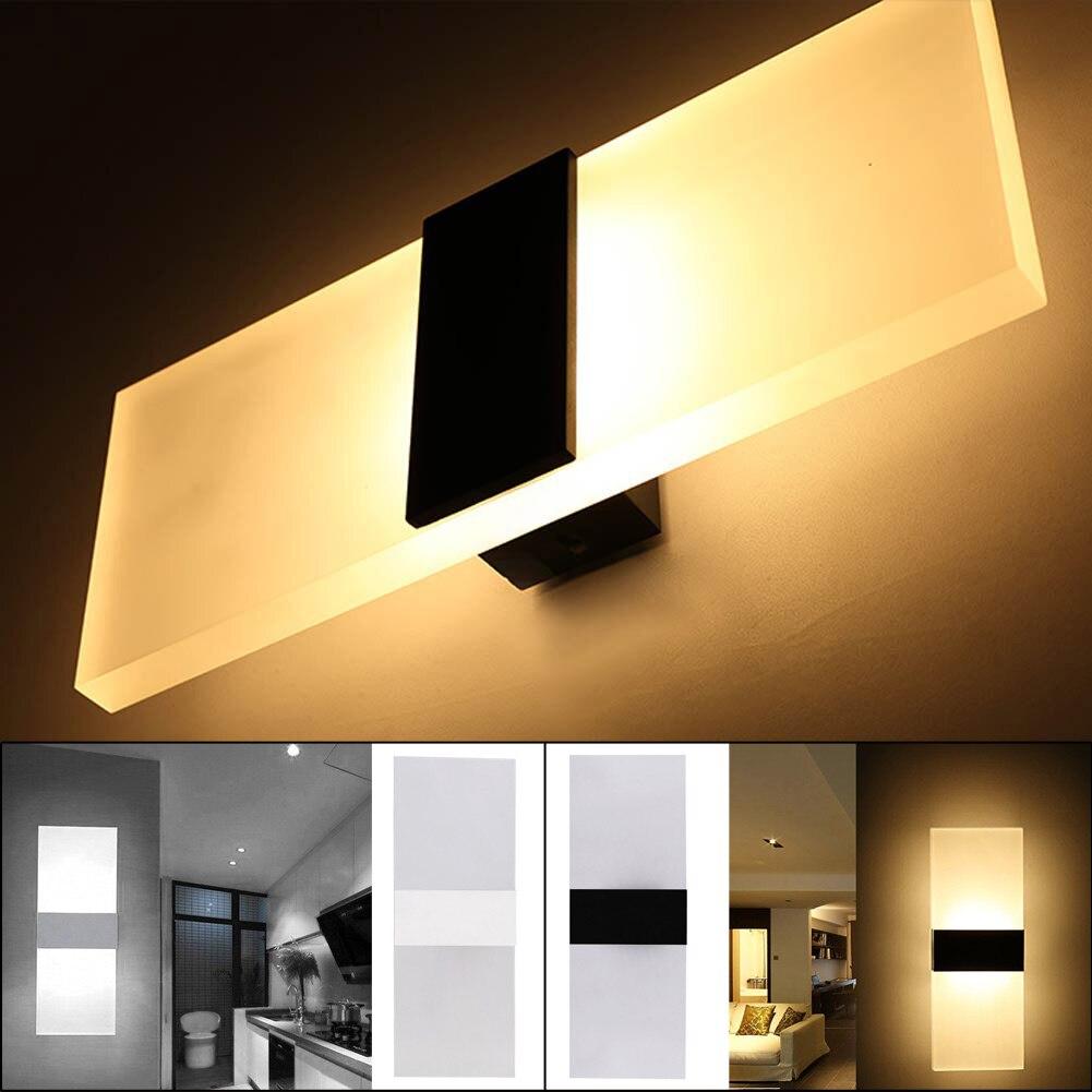 Mini LED Acrylic Wall Lamp 3W/6W Corridor Bedside Night Light Bar Light Wall Sconces Lamp AC 85~265V