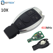 OkeyTech 10PCS Mercedes Benz Key 433MHz Remote Control Car Smart Key Fob Replacement Mercedes Benz Year 2000+ NEC&BGA