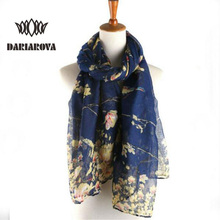 2017 New Fashion Design Soft Thin Cotton Voile Scarf Women Animal Bird printed Scarves Shawls Foulard Sjaal Cachecol Feminino(China)
