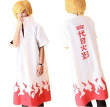 Anime NARUTO Fourth Hokage Namikaze Minato Cosplay Costumes Uniform Cloak E49168(China)
