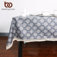 BeddingOutlet Tree Table Cloth Decorative Coffee Table Cover Cotton Linen Tablecloth for Kitchen Dinning Living Room Home Table(China)