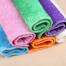 Best High Efficient Anti-grease Color Dish Cloth Bamboo Fiber Washing Towel Magic Kitchen Cleaning Wiping Rags Random Color