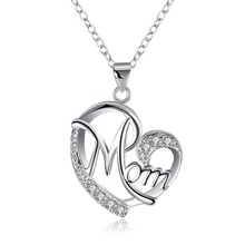 Free shipping Hot 925 sterling silver jewelry sweet love-shaped pendant necklace Ms. romantic candlelight dinner(China)