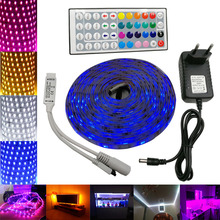 RiRi won SMD RGB LED Strip Light 5050 4M 8M 10m 5m 30Leds/m led Tape Waterproof diode ribbon 44K Controller DC 12V adapter set
