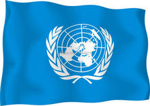 United Nations Flag 90*150 CM UN Flag Indoor/Outdoor Banner Pennant New Outdoor(China)