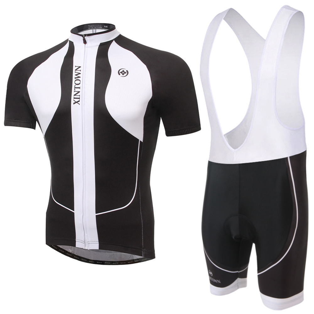 Cycling Set Men Summer Short Sleeve and Bib Shotrs 3 Color Anti-sweat Breathable Bicycle Set Outdoor Sport Bike Clothes Ciclismo<br>