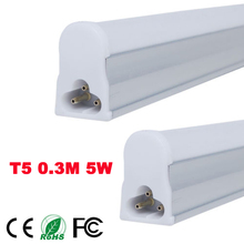 T5 5W Tubes Led 300mm SMD 2835 Super Brightness Led Bulbs lights Fluorescent Tubes AC100~265V Constant Current + free shipping