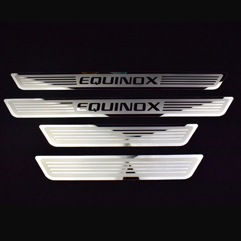 Steel Outer Door Sill Scuff Plate 4pcs For Chevrolet Holden Equinox 2018
