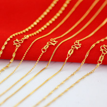 real yellow water wave chain,box chain,beads chain short collar bone chain necklace accessories wholesale(China)