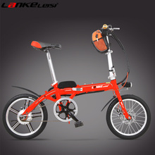 "LS200 16"" 36V 15Ah Big Lithium Battery E Bike, Quick-Fold Portable Electric Bicycle, Both Disc Brake."