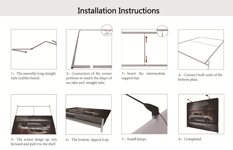Installation instructions, Backdrop