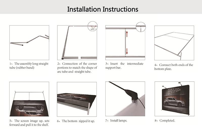 Installation instructions, Backdrop