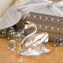 Baby Shower Choice Crystal Collection Lovely Swans Bridal Shower Favors 100pcs/lot